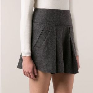 Vince thick wool skirt gray